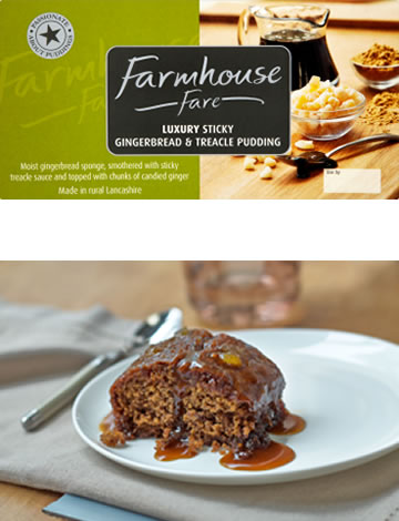 Luxury Sticky Gingerbread & Treacle Pudding 500g